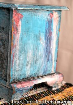 How to do a Boho Chic Paint Finish on a Jewelry Box – Eccentric Eclectic Studio – Yana Fourie – Thrift Store Crafts Vintage Thrift Stores, Thrift Store Crafts, Bohemian Painting, Jewerly Box Diy, Jewelry Box Makeover, Bohemian Furniture, Paint Furniture, Furniture Ideas, Furniture Makeover