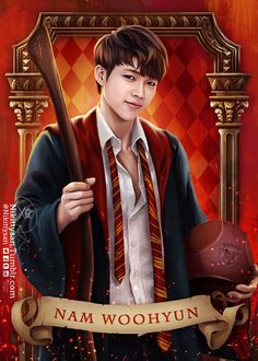 Infinite Goes to Hogwarts by Nikittysan ∞ on ArtStation. Infinite Songs, Infinite Art, Kim Myungsoo, Kim Sung Kyu, Before The Dawn, Nam Woo Hyun, Boy Idols, Kpop Drawings, Woollim Entertainment