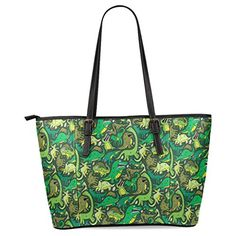 InterestPrint Dinosaur Womens Leather Tote Shoulder Bags Handbags *** Learn more by visiting the image link.