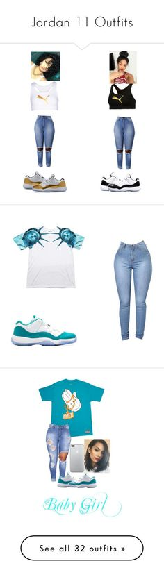 """Jordan 11 Outfits"" by nasza100 ❤ liked on Polyvore featuring Puma, Concord, Retrò, RockSmith, Topshop, CÉLINE, NIKE, The North Face, Casetify and Liz Lange"