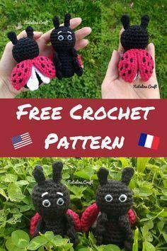Free Crochet Pattern: Ladybug Amigurumi – Patron gratuit: Coccinelle