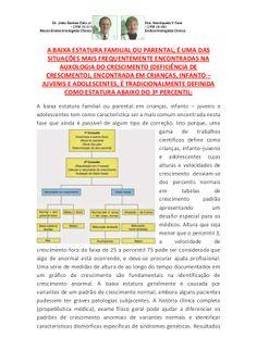 Baixa Estatura Familial - Parental Infanto Juvenil a mais Frequente...
