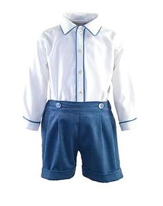 Rachel Riley Cord Short and Shirt Set $159//worn by Prince George to hospital and in new photos