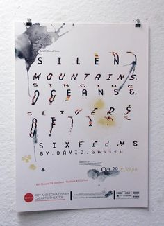 Silent Mountains, Singing Oceans, and Slivers of Time: Six Films by David Gatten   REDCAT Posters
