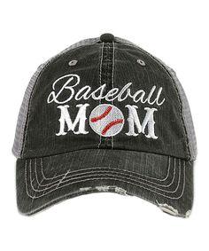 Gray 'Baseball Mom' Trucker Hat