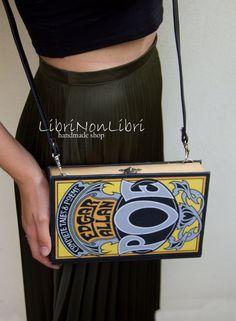 BOOK CLUTCH Edgar Allan Poe BAG Shoulder bag faux leather strap by LibriNonLibri on Etsy