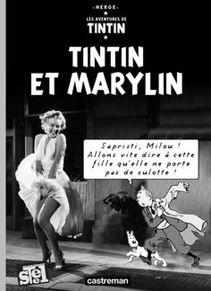 Tintin et Marylin Culture Meaning, Album Tintin, J Star, Lucky Luke, Animated Cartoons, Comic Covers, Book Covers, Funny Pictures, Comic Books
