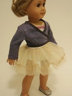 """Prima"" the new Sewing Pattern coming soon from Dollhouse Designs for  American Girl Isabelle girl of the year who loves dance & ballet http://www.etsy.com/shop/DollhouseDesigns"