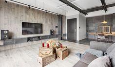 Living contraste diseño Hsinchu piso 36 de la vendimia casa moderna - DECOmyplace Noticias