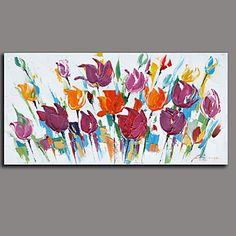 peinture à l'huile florale / botanique art mural autres artistes painting7878-2 d'huile peint à la main peint à la main – USD $ 99.99