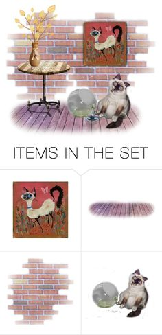 """Siamese..."" by marvy1 ❤ liked on Polyvore featuring art"