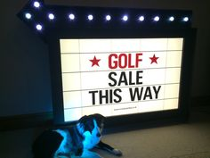 Custom Cinema Style Sign for Hire Golf Sales, Cinema Sign, Prop Hire, Cardiff, House Party, Party Themes, Parties, Movie, Retro