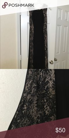 Black evening gown Very comfortable dress . Can be worn for multiple occasions. Black with nude undertone.  Worn once to a wedding Dresses