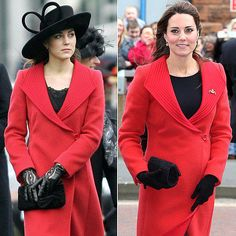 You spot Kate Middleton's repeat outfits immediately.: Like when she wore this Armani coat in 2006 to support Prince William at a Royal Military Academy Sandhurst parade and again while pregnant in 2013.