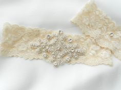 Wedding Garter Set Bridal Ivory Garter set by BridalbyVanessa, $34.00