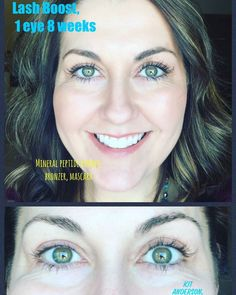 This brave soul used Lash Boost on 1 eye.  Can you SEE the difference?!?!