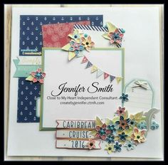 Adorable CTMH Regatta Layout by Jennifer Smith.