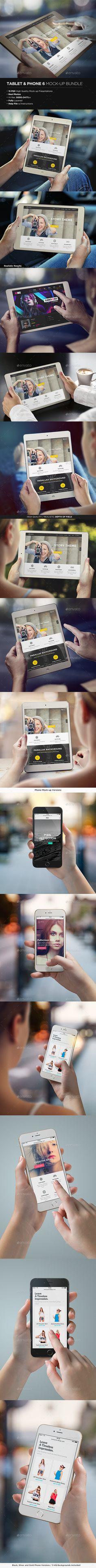 T shirt design app for ipad - Tablet Phone 6 Mock Up Bundle