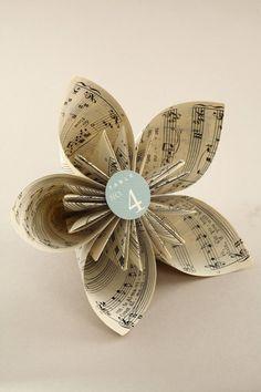 Book Page Origami Kusudama Flower - Craftfoxes