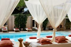 The Margi is a luxury boutique hotel located in Vouliagmeni, Athens Greece. The Margi boutique hotel is a heaven away from home for Athens accommodation. Beach Cabana, Greece Hotels, Enjoy Summer, Summer Heat, Outdoor Living, Outdoor Decor, Outdoor Drapes, Europe Destinations, Holiday Destinations