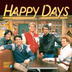 Happy Days // Chachi, Potsie, Richie, Fonzi, and Ralph