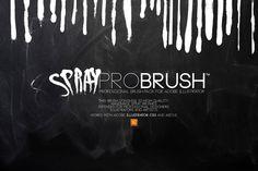 Check out Brush   SprayProBrush™ by Leonard Posavec on Creative Market
