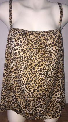 f561ad7b8aa S4A ~ Plus Size Womens 2X (18-20W) Swimsuit Tankini Top Cheetah Maternity