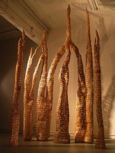 Contemporary Basketry: Found Materials/Clothespins & Pencils Gerry Stecca University of Maine Museum of Art