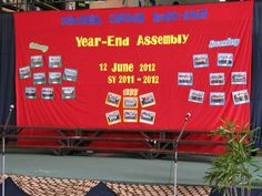 The first year end school-wide assembly/programme.