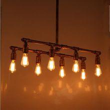 Loft Vintage personnalisé 8 têtes tuyau d'eau industrielle barre de lumière pendante lampes Edison pendentif lampe Antique éclairage(China (Mainland))