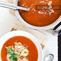 Zupa marokańska z pulpetami – Przepisy kulinarne ze zdjęciami Ravioli, Thai Red Curry, Ramen, Food And Drink, Ethnic Recipes
