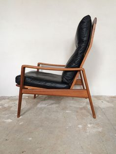 Arne Wahl Iversen Komfort Lounge Chair Teak 60s Danish Design Leder Sessel 60er 2