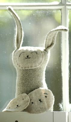wool stuffed bunny $38.00