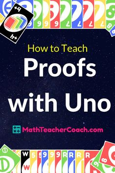 FREE Uno Proofs Activity Includes Digital Deck of Uno Cards, Power Point Presentation, and Student Worksheet. All Editable! We will email you all 3. Where do we send them? Let us know here now. #geometrycoach #geometry #mathgames #uno #googleclassroom #distancelearning #math #highschool Geometry Proofs, Geometry Lessons, Geometry Activities, Teaching Geometry, Geometry Art, Sacred Geometry, Math Lesson Plans, Math Lessons, Piano Lessons