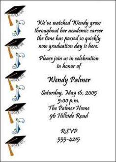 words for graduation invitation