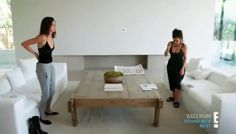 Love the Coffee Table Minimalist Interior, Minimalist Home, Kim Kardashian Home, Bel Air House, Kim House, Hill Interiors, Bedroom Floor Plans, White Home Decor, Celebrity Houses