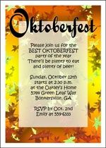 Oktoberfest Leaves Invitation Card At Holiday Invitations Octoberfest Party