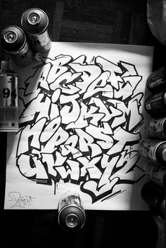 lost the original source, for inspirational purposes only ! Graffiti Alphabet Styles, Graffiti Lettering Alphabet, Graffiti Font, Graffiti Tagging, Graffiti Drawing, Graffiti Styles, Grafitti Alphabet, Graffiti Wild Style, Best Graffiti