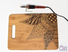 It's easier than you think to use a wood burning tool. Personalize an inexpensive wood cutting board. Wood burned cutting board video tutorial included.