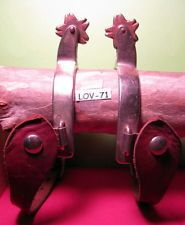 OLD NORTH & JUDD Just Off Ranch Steel Cowboy Spurs & Leather Straps MAKE OFFER $195.00 or Best Offer +$8.95 shipping