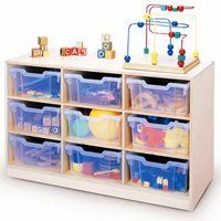 Gratnell 12 Compartment Cubby with Caster Storage Caddy, Kids Storage, Closet Storage, Craft Storage, Toy Box Seat, Storage Center, Secure Storage, Plastic Bins, Storage Compartments
