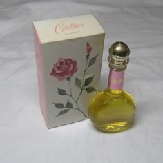 1961 Vintage Avon Cotillion Cologne with Rose Theme Box, 2 oz., Full Contents, Gold Lid, Pink Band, Pink Paint, Vintage Bathroom Decor by VictorianWardrobe on Etsy