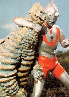 For about 5 minutes in the early my sister and I thought Ultraman was the bomb-diggity; until we realized the plot lines were more predictable than a pro wrestling match. Still, it was good lightweight kaiju-fighting fun. Upcoming Anime, Japanese Superheroes, Classic Sci Fi, Old Anime, Fantasy Movies, Japan Art, Godzilla, Horror Movies, Vintage Posters