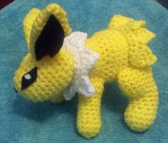 Jolteon is one of the evolutions of Eevee that I could not find a pattern for.  The others are Glaceon and Leafeon.  So, I decided to a...