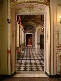 "The ""enfilade"" at Palazzo Reale in genova photographed by Pierrot Heritier #enfilade #infilata #interiordesign - More wonders at www.francescocatalano.it"