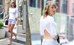 ANDPOP | Look For Less: Taylor Swift's Casual Cut-Off Shorts