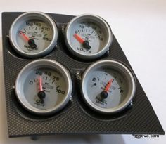 1968-1974 Nova Console Carbon Fiber Finish Quad Pod with Ultra Lite II Electric Gauges