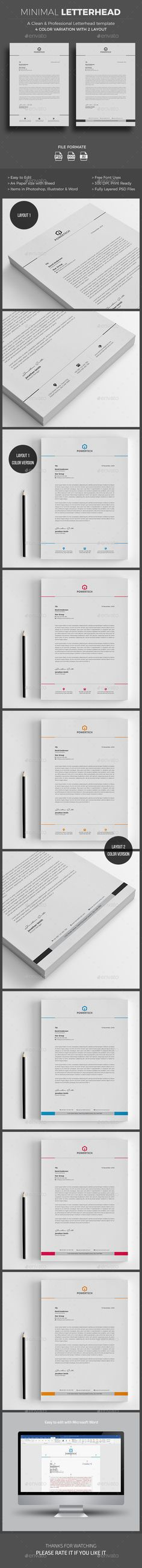 #Letterhead - #Stationery Print Templates