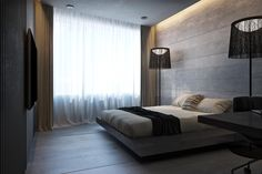 I'd take away the huge lamps - not a fan of those. Love the bed though.
