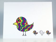 Groovy Chicks Greeting Card Be Original by TheNestedTurtle on Etsy, $4.00